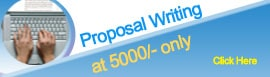 Proposal Writing at 7500/-